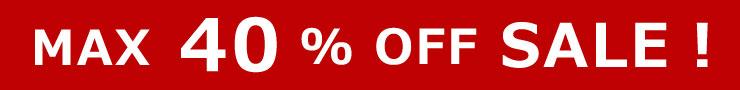 MAX40%OFF